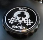 "Bonneville Thruxton T100 & Scrambler. Petrol/Gas Cap: Black GRIP Type. ""Cafe Racer"""